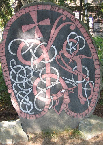 Restored runestone at Skansen, Stockholm. Image: Catarina Berg (Flickr, all rights reserved)
